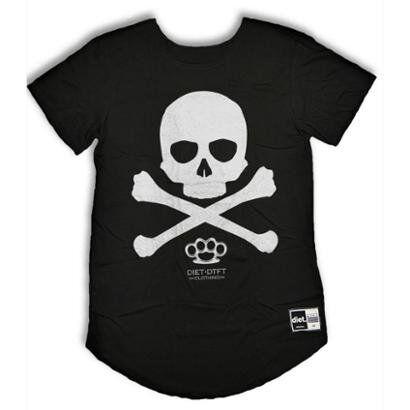 Camiseta Longline Skull x - Masculino