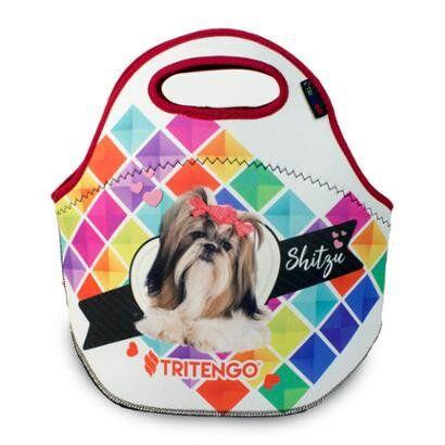 Lancheira Trmica Tritengo em Neoprene  I Love Pets Shitzu - Unissex