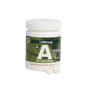 A-vitamin 1500 mcg 90 tabletter Vitaminpiller