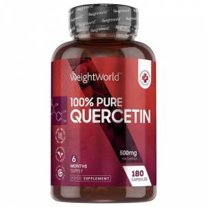 Quercetin Kapsler, 500mg 180 kapsler - naturligt antihistamin og antiinflammatorisk