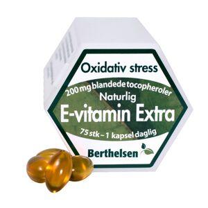 Berthelsen E-vitamiin Extra 200 mg 75 kapselia Vitamiinikapselit