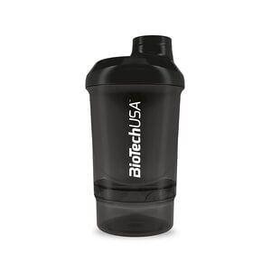 BioTech USA BioTech Shaker Wave+ Nano, 300 ml (+150 ml), Smoky Black