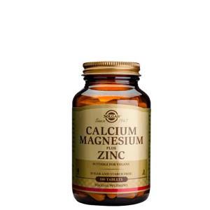 Solgar Kalsium Magnesium pluss Sink, 100 tabletter
