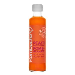 Svensk Kombucha Kombucha Peach/Pomegranate, 250 ml