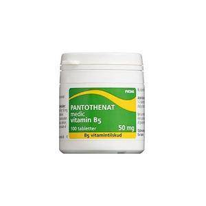 Meda Pantothenat, Vitamin B5 50 mg - 100 tab