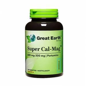 Great Earth Super Cal-Mag 600mg/300mg 100 Kapslar