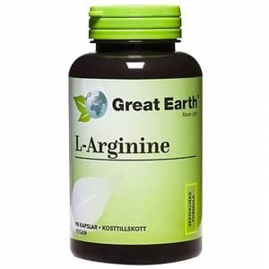 Great Earth L-Arginin 500 mg 90 kapslar