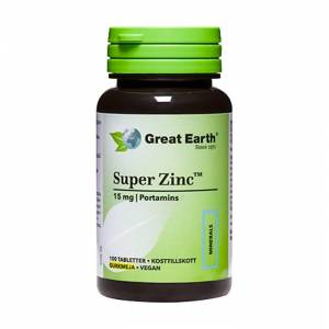 Great Earth Super Zink 15mg 100 Tabletter