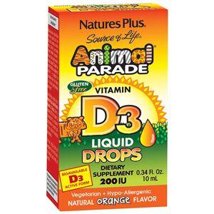 Nature's Plus Animal Parade Vitamin D3 Liquid Drops 200IU, 10ml.