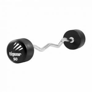 Tiguar Curl PU Barbell, 50 kg