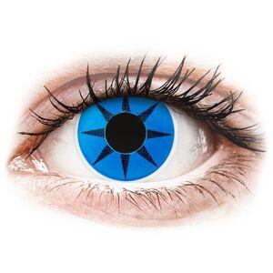 ColourVUE Crazy Lens - Blue Star - uden styrke