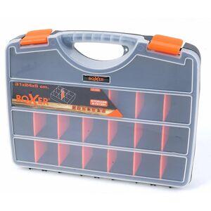 BOXER - Sortimentsboks med 21 rum - 31 x 24 x 5 cm