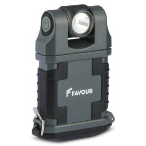 FAVOUR FAVOR Arbeidslys EDCLIP grå og svart T2342