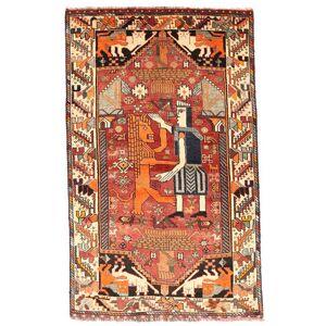 Håndknyttet. Oprindelse: Persia / Iran Ægte Tæppe Ghashghai 103X169 Mørkebrun/Mørkerød (Uld, Persien/Iran)