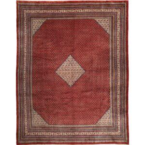 RugVista 310X396 Persisk Tæppe Håndknyttet Orientalsk Uld Mørkerød/Lysebrun Stort