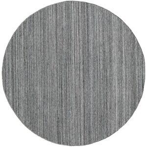 RugVista Petra - Dark_Mix Tæppe Ø 200 Ægte Moderne Håndvævet Rundt Mørkegrå/Lysegrå/Blå ( Indien)