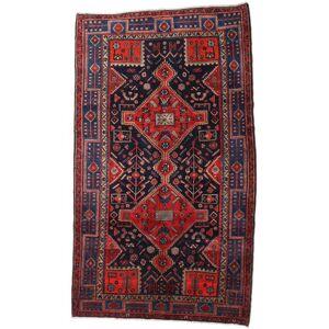 Håndknyttet. Oprindelse: Persia / Iran 158X274 Hamadan Tæppe Ægte Orientalsk Håndknyttet Tæppeløber Mørkelilla/Mørkerød (Uld, Persien/Iran)