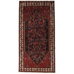Håndknyttet. Oprindelse: Persia / Iran Håndknyttet Tæppe Beluch Patina 150X295 Tæppeløber Mørkerød/Mørkebrun (Uld, Persien/Iran)