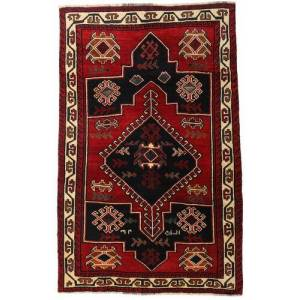 Håndknyttet. Oprindelse: Persia / Iran 156X248 Orientalsk Lori Tæppe Mørkebrun/Mørkerød (Uld, Persien/Iran)