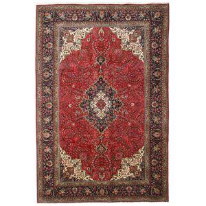 Håndknyttet. Oprindelse: Persia / Iran 202X302 Tabriz Tæppe Ægte Orientalsk Håndknyttet Mørkebrun/Mørkerød (Uld, Persien/Iran)