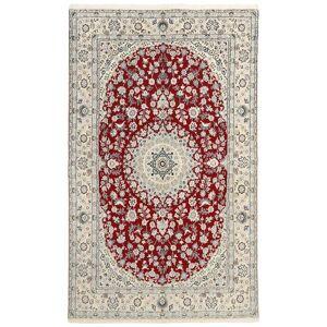 Håndknyttet. Oprindelse: Persia / Iran Persisk Nain 9La Tæppe 149X238 Lysegrå/Beige (Uld/Silke, Persien/Iran)