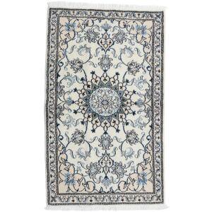 Håndknyttet. Oprindelse: Persia / Iran Persisk Nain Tæppe 87X143 Lysegrå/Hvid/Creme (Uld, Persien/Iran)
