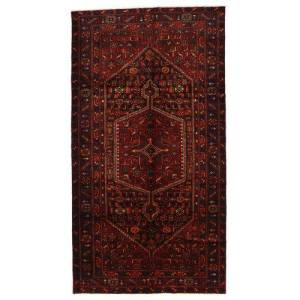 Håndknyttet. Oprindelse: Persia / Iran 149X278 Orientalsk Zanjan Tæppe Mørkerød (Uld, Persien/Iran)