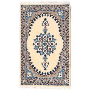 Håndknyttet. Oprindelse: Persia / Iran Orientalsk Nain Tæppe 56X91 Beige/Mørkegrå/Mørk Beige (Uld, Persien/Iran)
