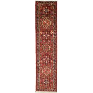 Nain Trading Gharadjeh Tæppe 296x71 Juoksija Brown/Pink (Persien / Iran, Villa, Käsinommeltu)