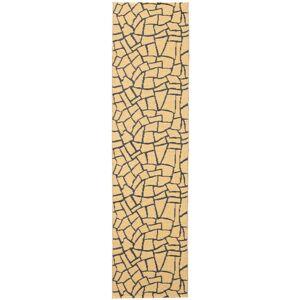 RugVista 70X280 Terrazzo Moderni Tummanbeige/Vaaleanruskea
