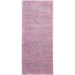 RugVista 80X200 Vintage Matto Maharani Käytävämatto Vaaleanpunainen/Pinkki