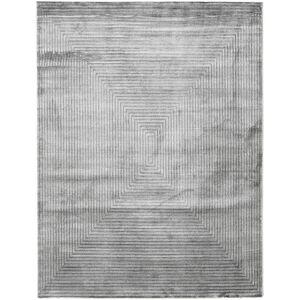 RugVista 200X250 Yksivärinen Matto Illusion Moderni Vaaleanharmaa/Tummanharmaa