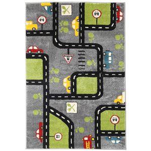 RugVista 120X180 City Roads Matto Tummanruskea/Musta