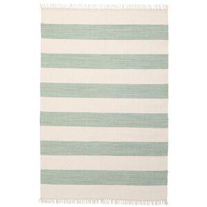 RugVista Moderne Teppe Cotton Stripe 140X200 Håndvevd Stripet Bomull Beige/Pastell Grønn