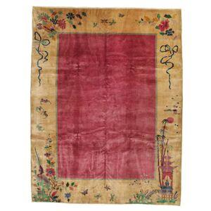 RugVista Kina Antikke: Art Deco 1920 Teppe 275X360 Lysbrun/Rød/Mørk Rød Stort (Ull, Kina)