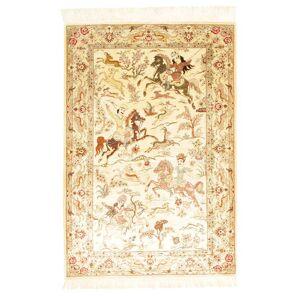 Ghom silke figur / bilde signert: Ghom Sharifi  teppe 100x148 Orientalsk Teppe