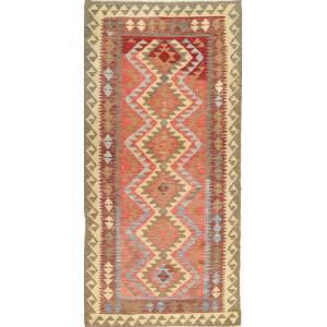 Kelim Afghan Old style  teppe 104x193 Orientalsk Teppe