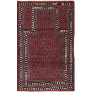 Håndknyttet. Opphav: Afghanistan Beluch Teppe 87X146 Mørk Rød/Mørk Grå (Ull, Afghanistan)