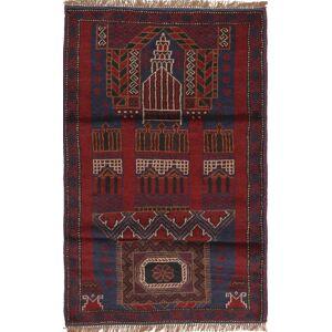 RugVista 83X140 Orientalsk Teppe Håndknyttet Ull Mørk Rød/Mørk Brun