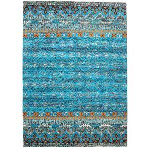 RugVista Quito - Turquoise Teppe 240X340 Ekte Moderne Håndknyttet Turkis Blå/Lys Grå (Silke, India)