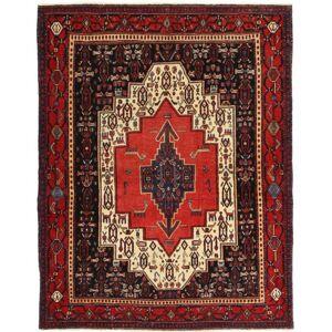 Håndknyttet. Opphav: Persia / Iran Persisk Senneh Patina Teppe 120X155 Mørk Rød/Mørk Brun (Ull, Persia/Iran)
