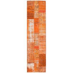 Håndknyttet. Opphav: Turkey Patchwork Teppe 80X305 Teppeløpere Orange/Lysbrun (Ull, Tyrkia)