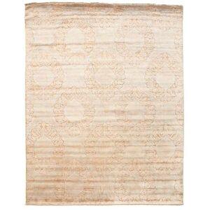 Håndknyttet. Opphav: India Damask Teppe 241X306 Ekte Moderne Håndknyttet Beige/Hvit/Creme ( India)