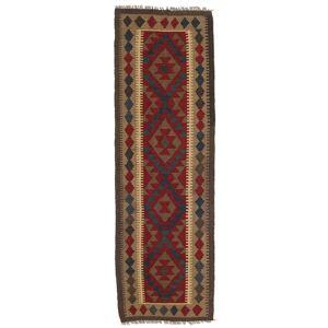 Håndknyttet. Opphav: Afghanistan Orientalsk Kelim Maimane Teppe 61X197 Teppeløpere Mørk Rød/Lysbrun (Ull, Afghanistan)
