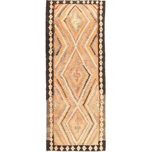 Håndknyttet. Opphav: Persia / Iran Kelim Fars Teppe 155X400 Ekte Orientalsk Håndvevd Teppeløpere Beige/Mørk Beige (Ull, Persia/Iran)