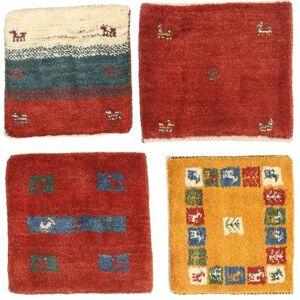 Gabbeh Persia pakke med 4   teppe 40x40 Persisk, Kvadratisk Teppe