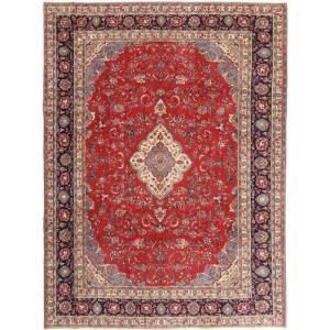 Håndknyttet. Opphav: Persia / Iran Sarough Patina Teppe 268X360 Ekte Orientalsk Håndknyttet Mørk Rød/Beige Stort (Ull, Persia/Iran)