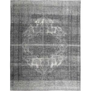 RugVista Vintage Teppe 293X375 Shabby Chic/Overdyed Håndknyttet Moderne Ull Mørk Brun/Mørk Grå/Lys Grå Stort