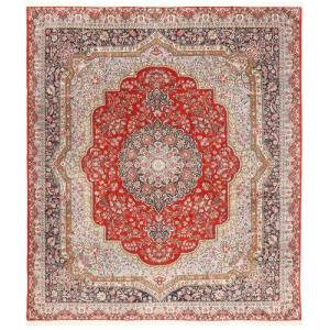 Håndknyttet. Opphav: Persia / Iran Orientalsk Kerman Lavar Teppe 254X294 Beige/Lys Grå Stort (Ull, Persia/Iran)
