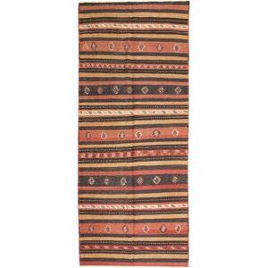 Håndknyttet. Opphav: Persia / Iran 157X380 Orientalsk Kelim Fars Teppe Teppeløpere Mørk Rød/Rød (Ull, Persia/Iran)